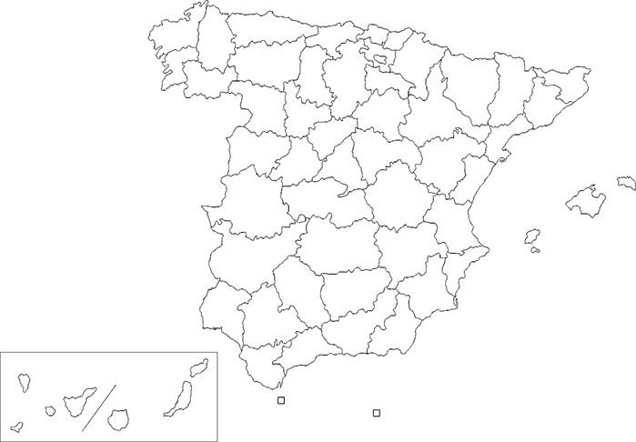 Map Of Spain Blank.Lexgo Spain Trips